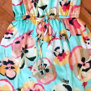 BeBop Dresses - Sweet Pansy Floral Print Sun Dress